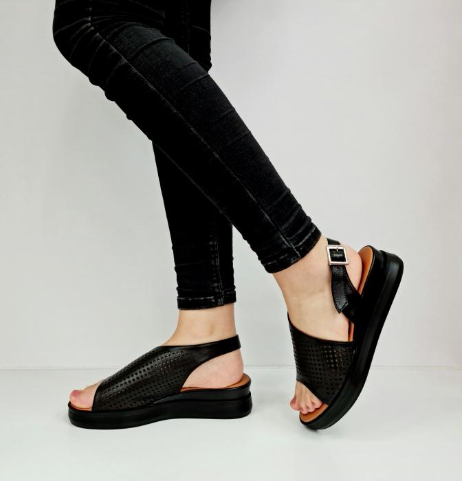 Sandale Dama Piele Naturala Negre Prego Caroline D02759 [1]