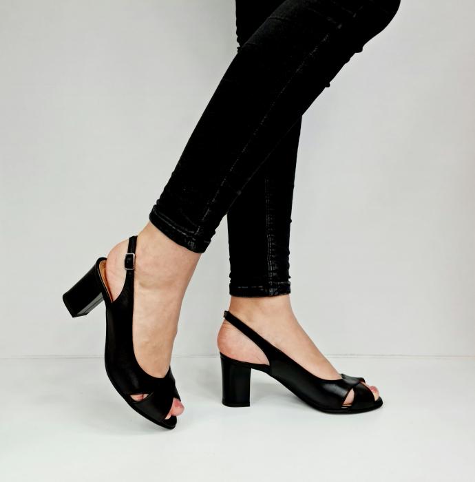 Sandale Dama Piele Naturala Negre Celeste D02762 [1]