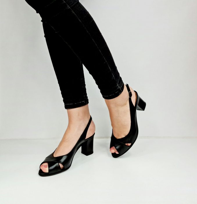 Sandale Dama Piele Naturala Negre Celeste D02762 [3]