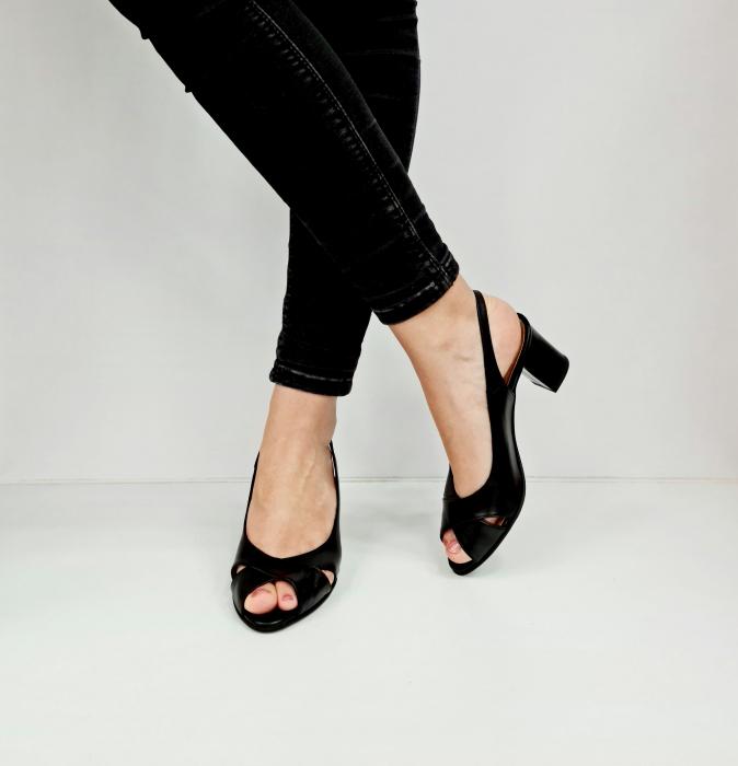 Sandale Dama Piele Naturala Negre Celeste D02762 [4]