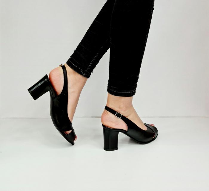 Sandale Dama Piele Naturala Negre Celeste D02762 [5]