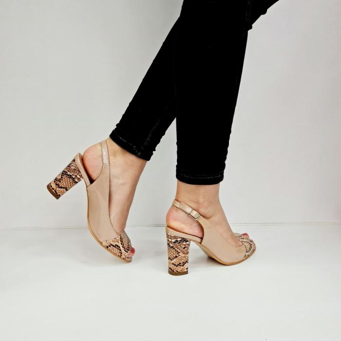 Sandale Dama Piele Naturala Bej Catherine D02763 [4]