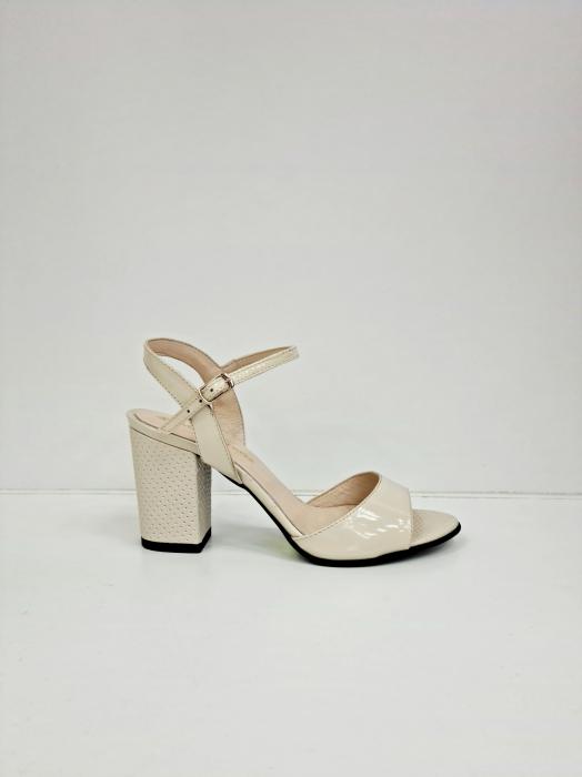 Sandale Dama Piele Naturala Bej Moda Prosper Cesara D02765 [0]