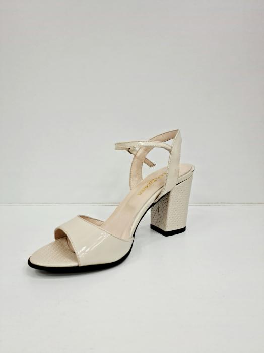 Sandale Dama Piele Naturala Bej Moda Prosper Cesara D02765 [2]