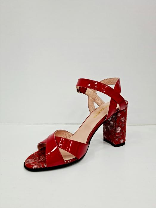 Sandale Dama Piele Naturala Rosii Moda Prosper Charle D02766 [2]
