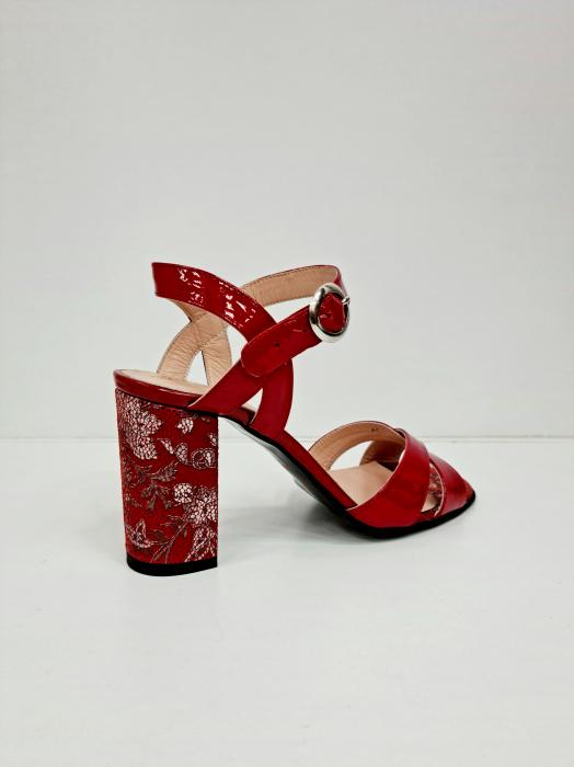 Sandale Dama Piele Naturala Rosii Moda Prosper Charle D02766 [3]