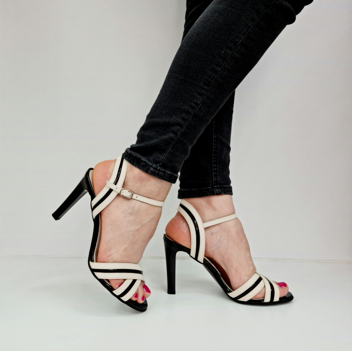 Sandale Dama Piele Naturala Albe Moda Prosper Christiane D02768 [0]