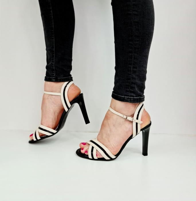 Sandale Dama Piele Naturala Albe Moda Prosper Christiane D02768 [1]