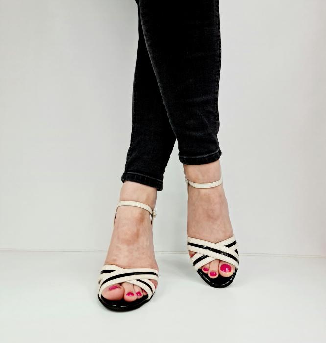 Sandale Dama Piele Naturala Albe Moda Prosper Christiane D02768 [3]