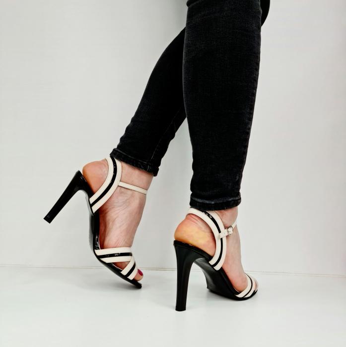 Sandale Dama Piele Naturala Albe Moda Prosper Christiane D02768 [4]