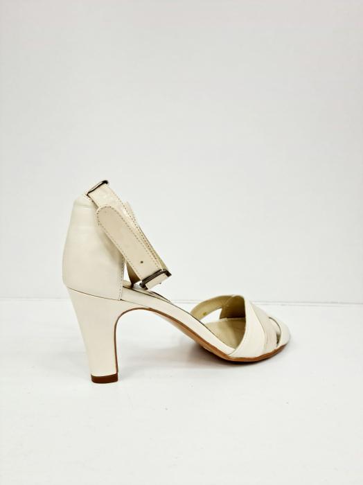 Sandale Dama Piele Naturala Bej Guban Noella D02769 [4]