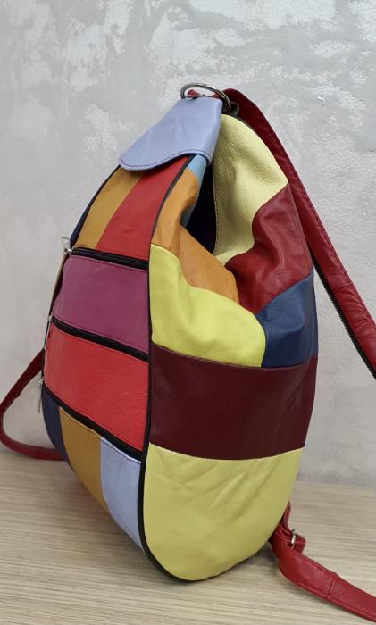 Rucsac Dama Piele Naturala Multicolor Seana G00374 3