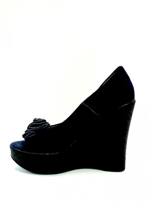 Pantofi Dama Piele Naturala Albastri Groza D02706 2
