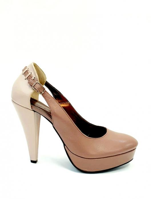 Pantofi cu toc Piele Naturala Roze Izzy D02707 0