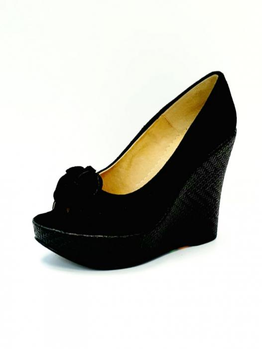 Pantofi Dama Piele Naturala Negri Luiza D02704 2