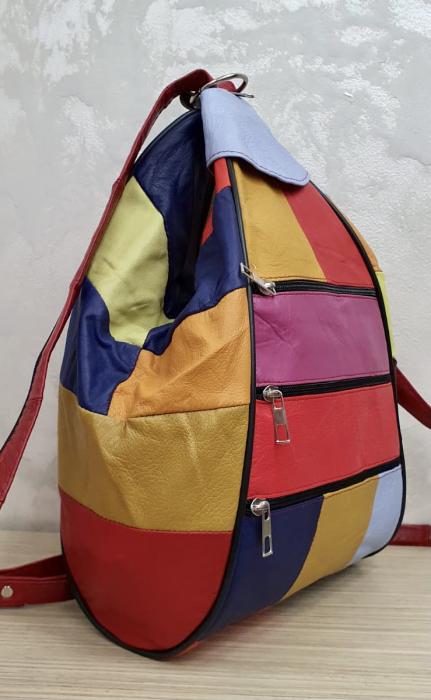 Rucsac Dama Piele Naturala Multicolor Seana G00374 4