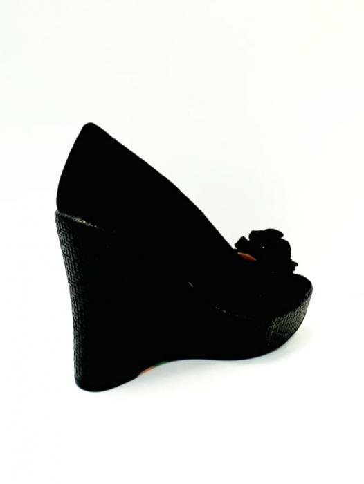 Pantofi Dama Piele Naturala Negri Luiza D02704 3