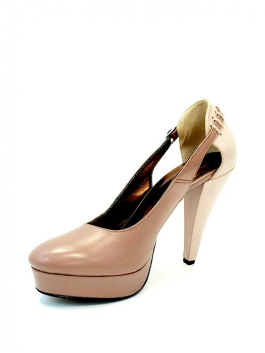 Pantofi cu toc Piele Naturala Roze Izzy D02707 2