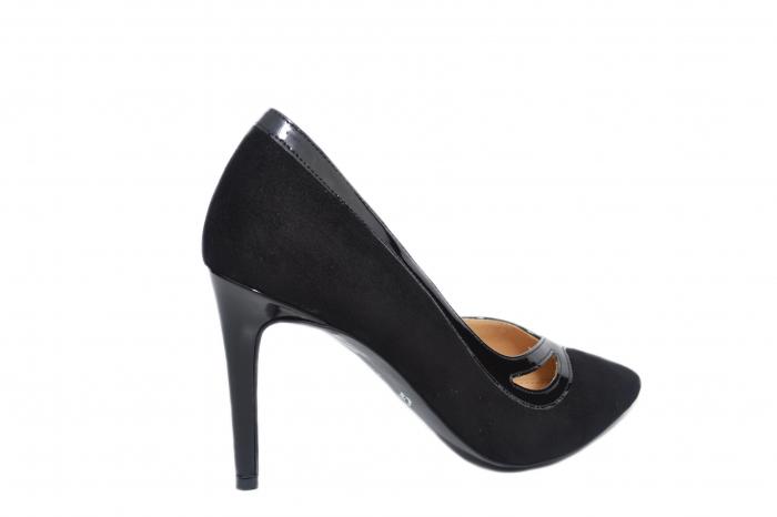 Pantofi cu toc Piele Naturala Negri Guban Siena D02127 3