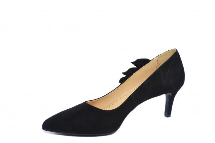 Pantofi cu toc Piele Naturala Negri Guban Oliana D02129 2