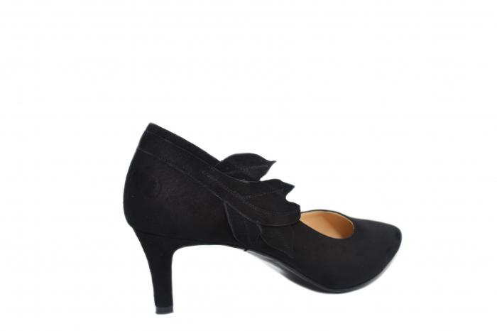 Pantofi cu toc Piele Naturala Negri Guban Oliana D02129 3
