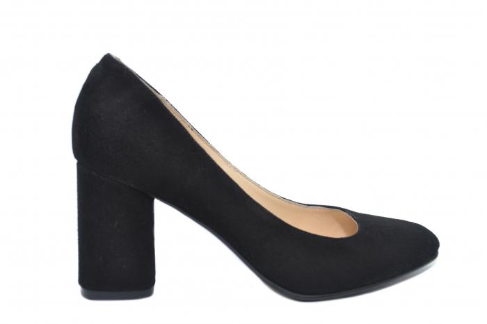 Pantofi cu toc Piele Naturala Negri Celia D02198 0