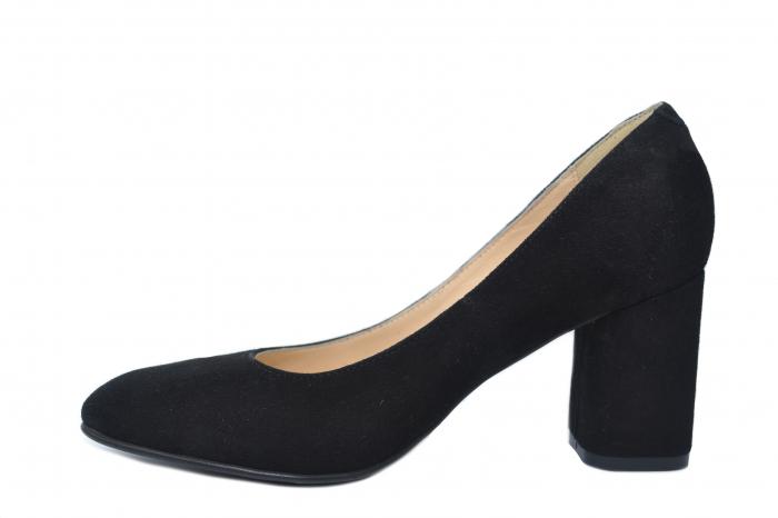 Pantofi cu toc Piele Naturala Negri Celia D02198 1