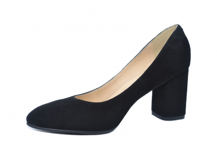 Pantofi cu toc Piele Naturala Negri Celia D02198 2