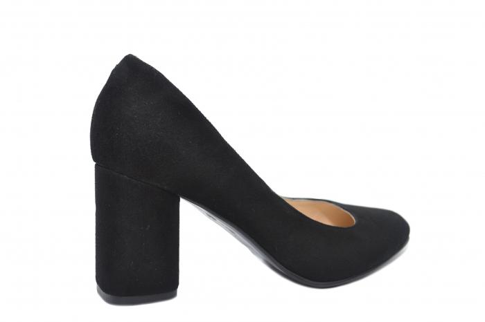 Pantofi cu toc Piele Naturala Negri Celia D02198 3