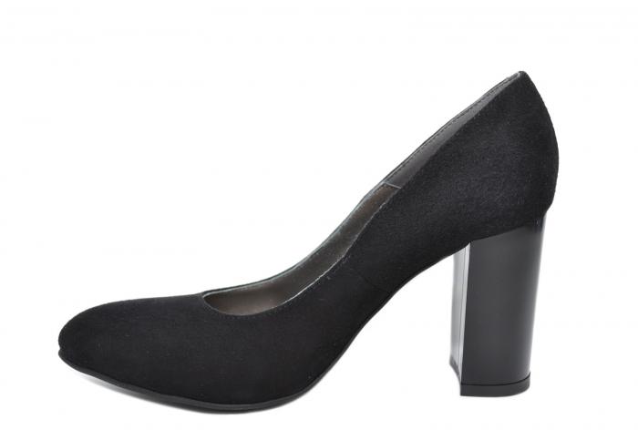 Pantofi cu toc Piele Naturala Negri Moda Prosper Prisca D02068 [1]