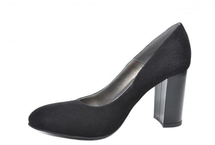 Pantofi cu toc Piele Naturala Negri Moda Prosper Prisca D02068 [2]