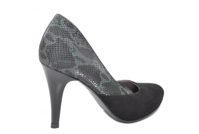 Pantofi cu toc Piele Naturala Negri Moda Prosper Saima D02069 3