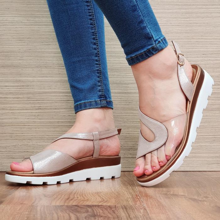 Sandale Piele Naturala Nude Aimee 0