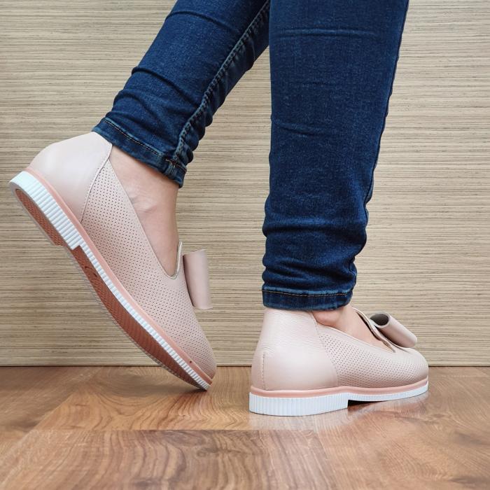 Pantofi Casual Piele Naturala Nude Marina D02294 [3]