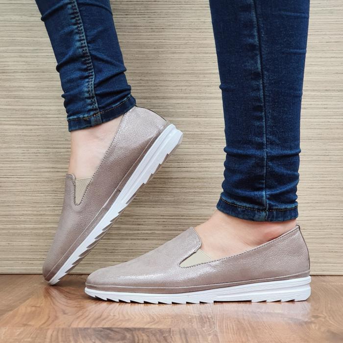 Pantofi Casual Piele Naturala Nude Esra D02295 [1]