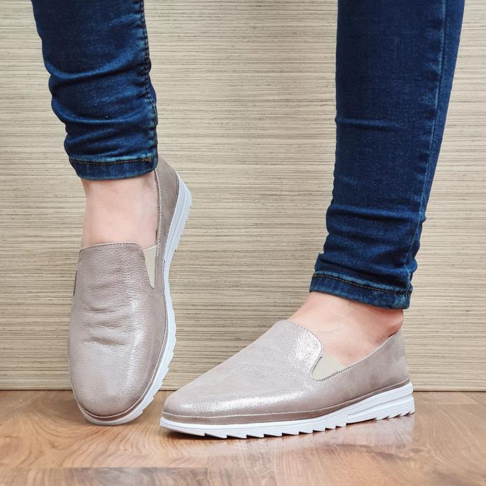 Pantofi Casual Piele Naturala Nude Esra D02295 [2]