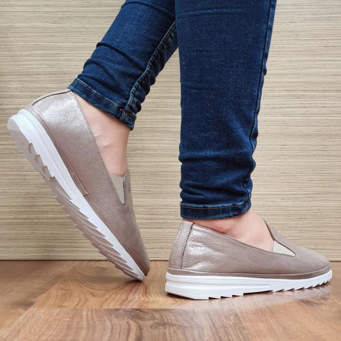 Pantofi Casual Piele Naturala Nude Esra D02295 [3]