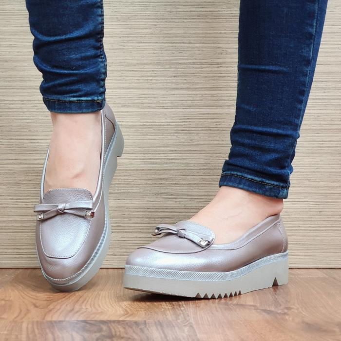 Pantofi Casual Piele Naturala Nude Louisa D02297 2