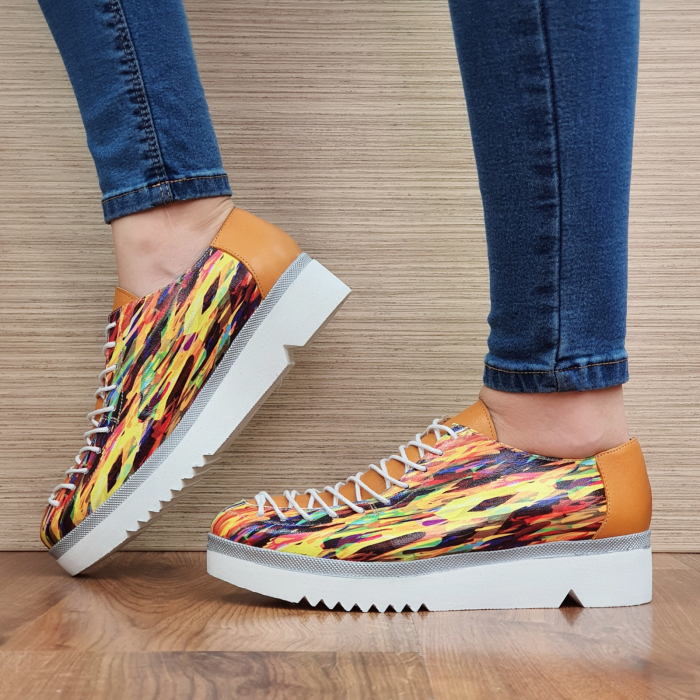 Pantofi Casual Piele Naturala Multicolor Dorothea D02304 1