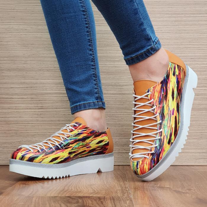 Pantofi Casual Piele Naturala Multicolor Dorothea D02304 2