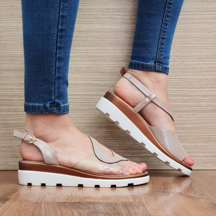Sandale Piele Naturala Nude Aimee 1