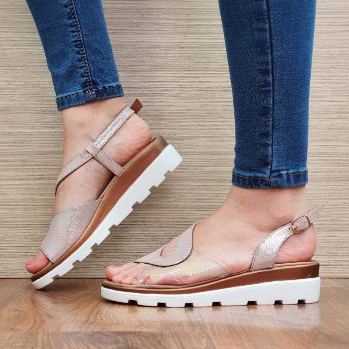Sandale Piele Naturala Nude Aimee 2