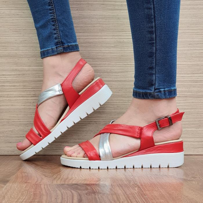 Sandale Piele Naturala Rosii Clarice [1]