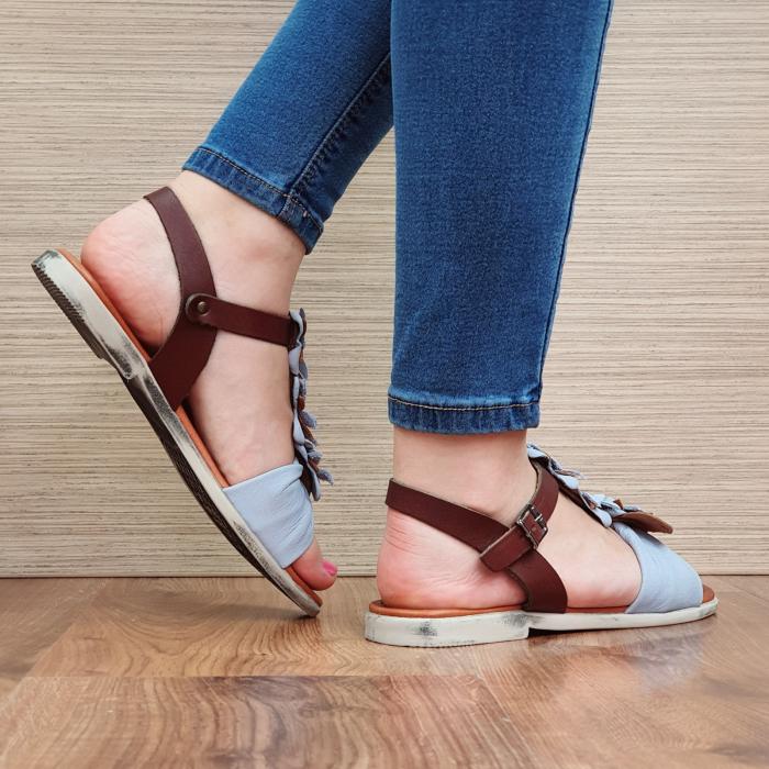 Sandale Piele Naturala Bleu Eliza D02308 3