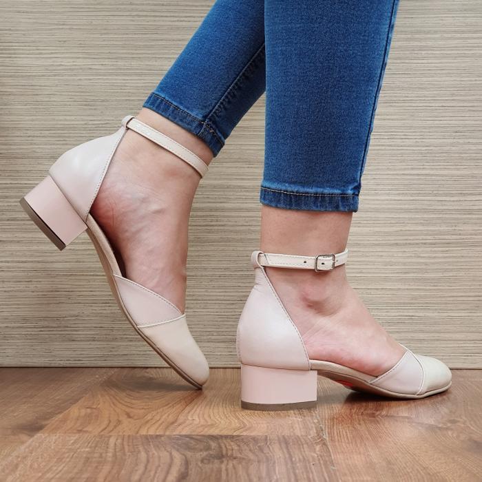 Pantofi Dama Piele Naturala Nude Renee D02314 3