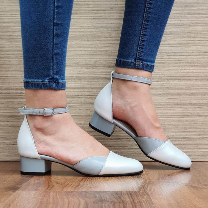 Pantofi Dama Piele Naturala Albi Renee D02316 0