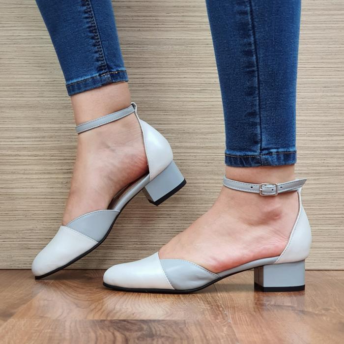 Pantofi Dama Piele Naturala Albi Renee D02316 1