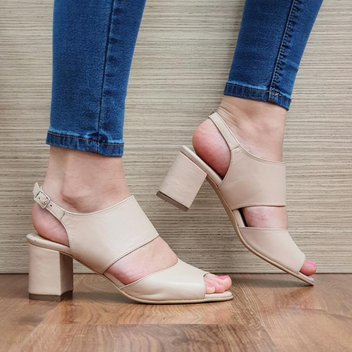 Sandale Piele Naturala Nude Sasha [0]