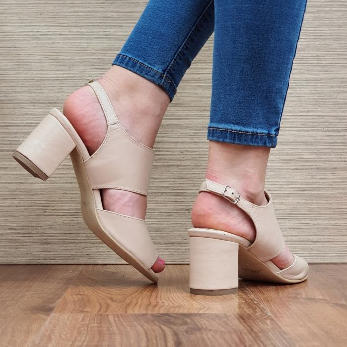 Sandale Piele Naturala Nude Sasha [3]