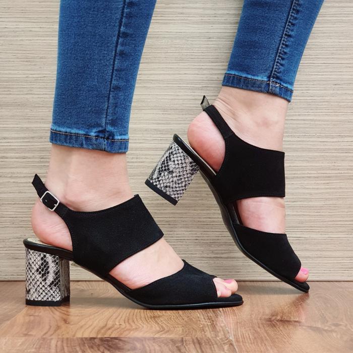Sandale Piele Naturala Negre Sasha 0